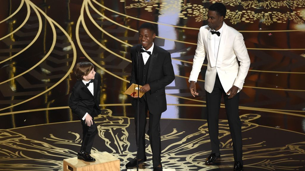 Chris Rock y el escenario improvisado para Jacob Tremblay y Abraham Attah