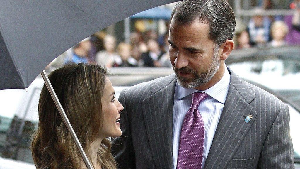 Los Príncipes de Asturias llegan a Oviedo