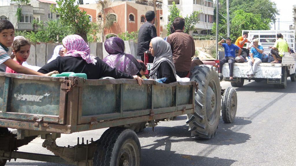 Ya son más de 10.000 los palestinos que han huido de sus casas ante la amenaza israelí