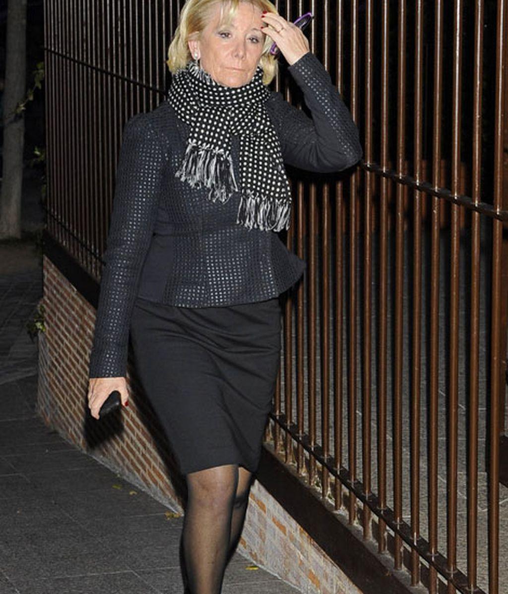 Esperanza Aguirre también acudió al funeral
