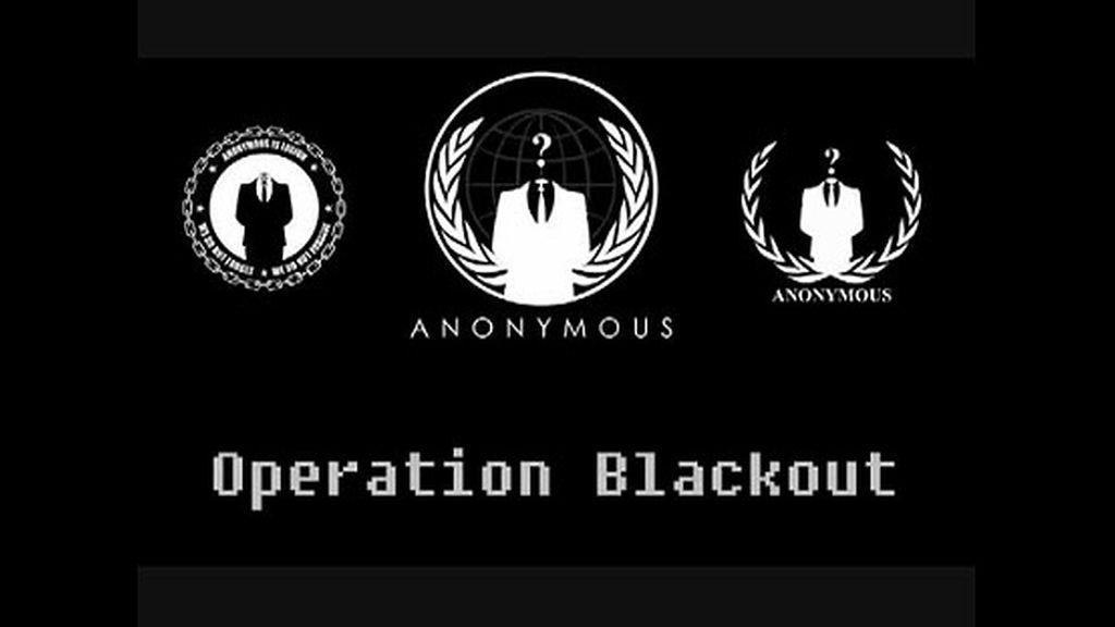 Anonymous, apagón Anonymous CISPA, apagón páginas web, internet CISPA, censura internet