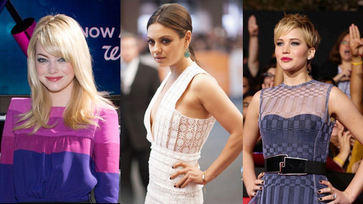 Emma Stone, Mila Kunis y Jennifer Lawrence, las más rentables de Hollywood