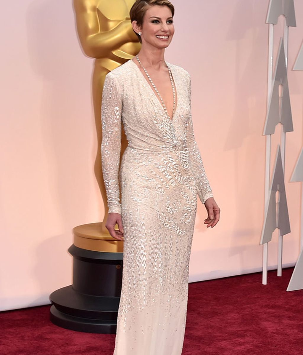 Faith Hill con vestido de J Mendell