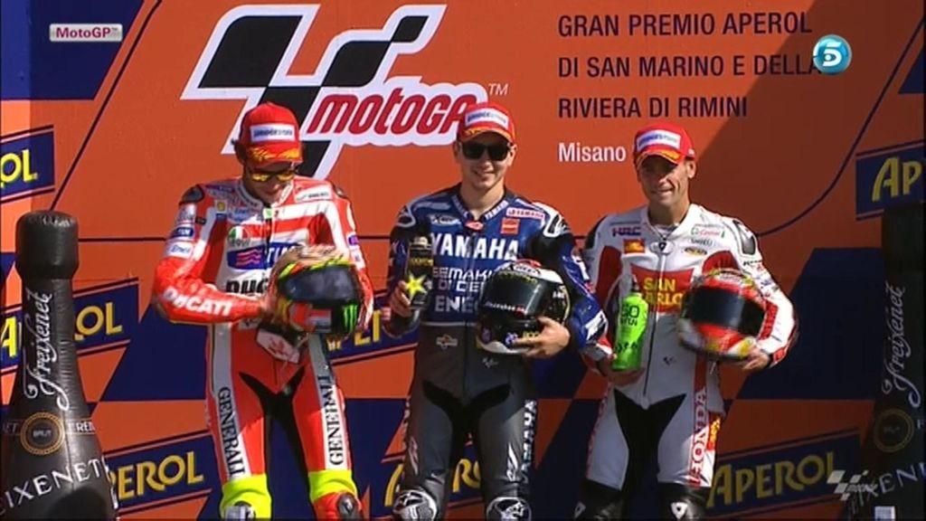 Los tres guerreros de Misano: Lorenzo, Rossi y Barberá