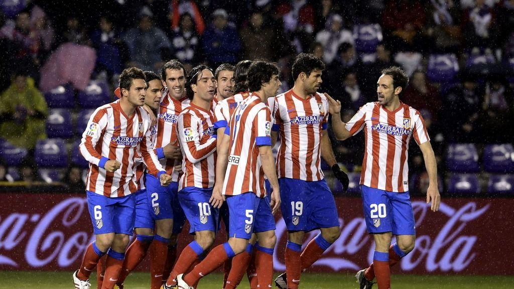 El Atlético gana al Valladolid