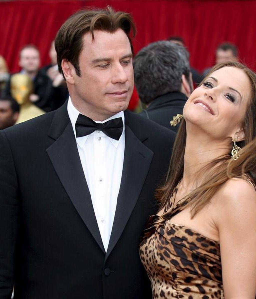Imagen del actor estadounidense John Travolta y su esposa, la actriz estadounidense Kelly Preston. EFE/Archivo