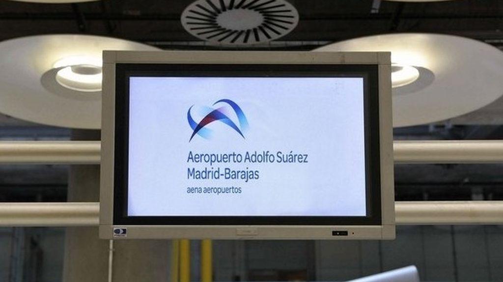 El aeropuerto Adolfo Suárez Madrid-Barajas ya luce su nuevo nombre en la T4