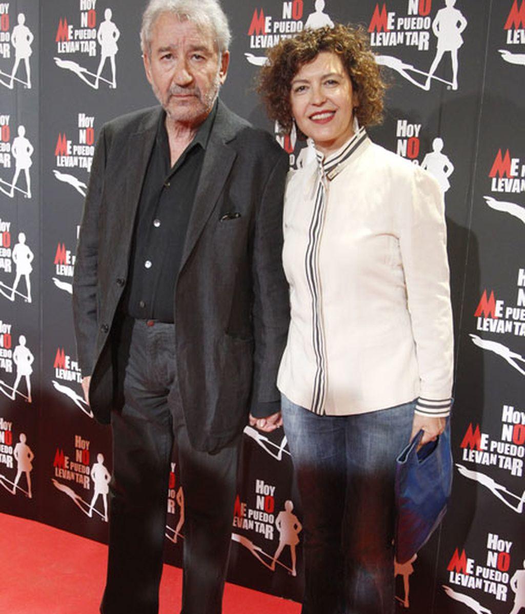 El actor José Sacristán junto a Amparo Pascual
