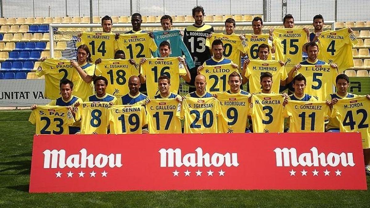 Jugadores Villarreal con camisetas