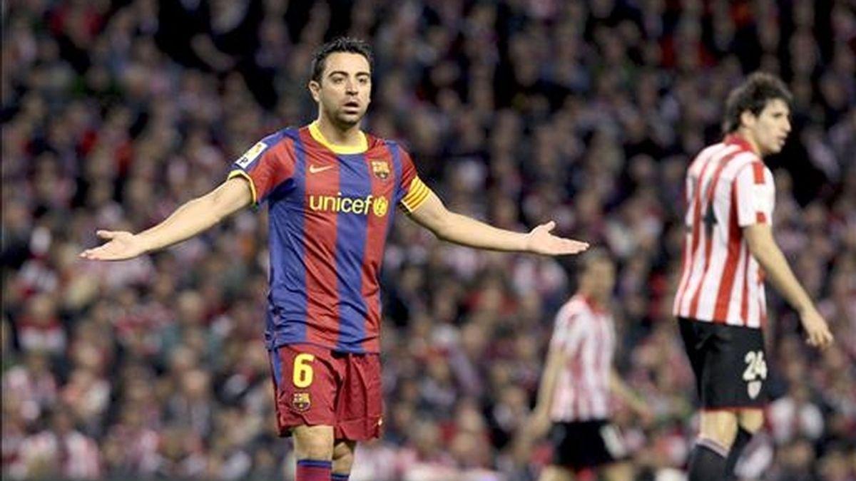 Xavi cumplió 550 partidos con el Barça. Vídeo: Informativos Telecinco.