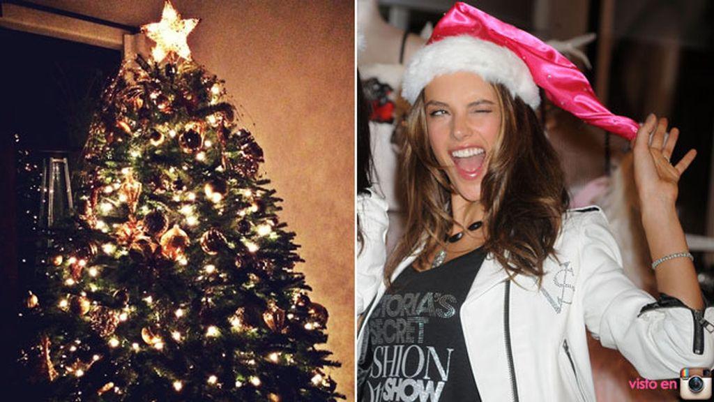 Alessandra Ambrosio, de la pasarela a preparar la decoración para Navidad