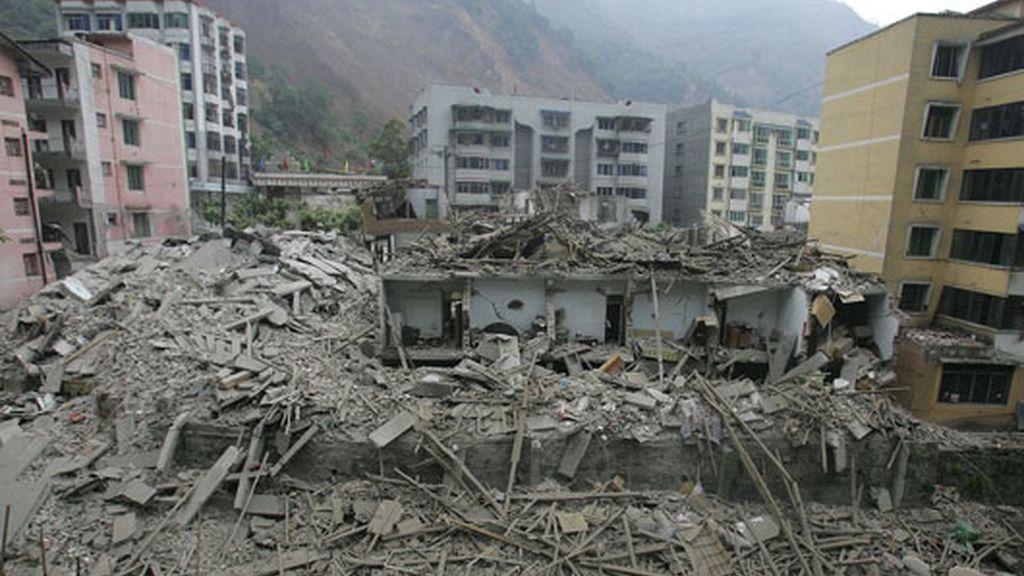 Wenchuan, reducido a escombros