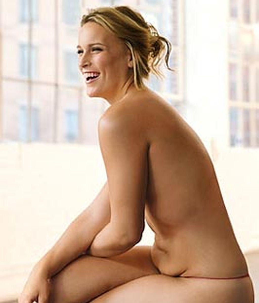 Lizzie Miller se convierte en una estrella tras posar con sus 80 kilos de peso para una revista de moda. Foto Glamour