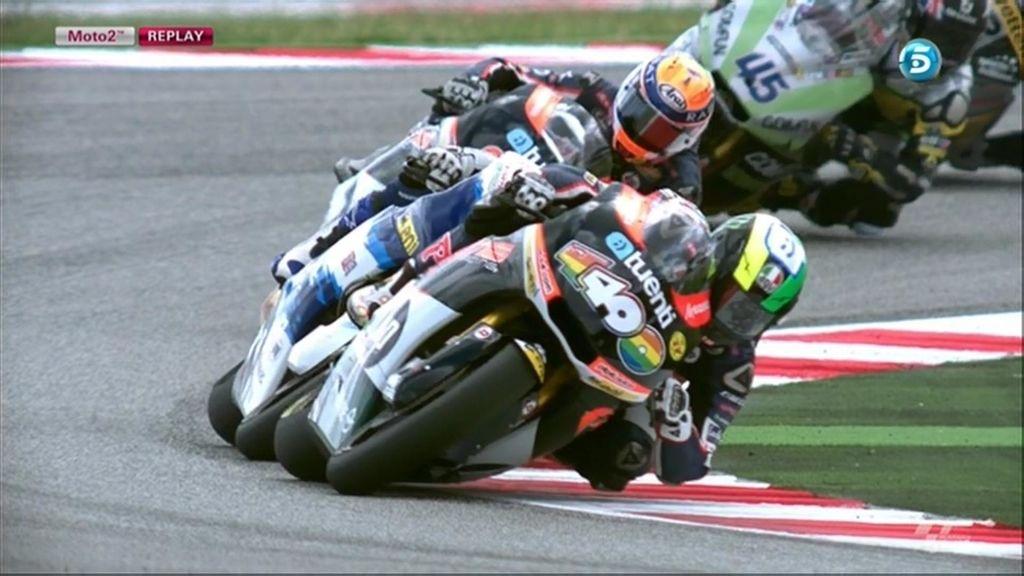 Pol Espargaró tumba su moto en el GP de San Marino