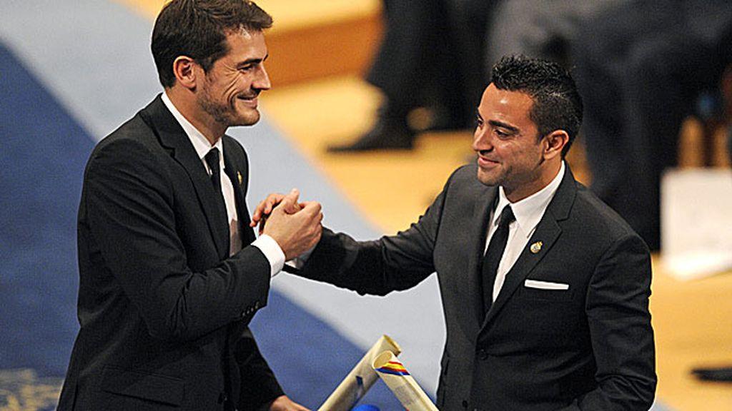Recogió junto a Casillas el Premio Príncipe de Asturias