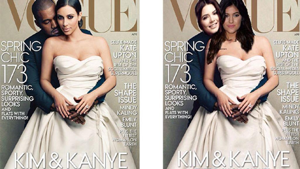 Kim Kardashian, Vogue, portada, burla, Kanye West