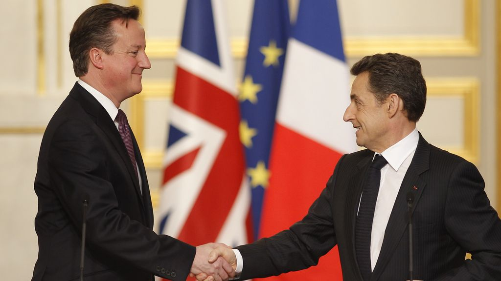 David Cameron y Nicolas Sarkozy