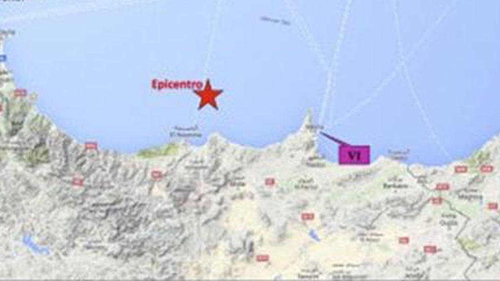 Terremoto en el Mar de Alborán cerca de Alhucemas y Melilla