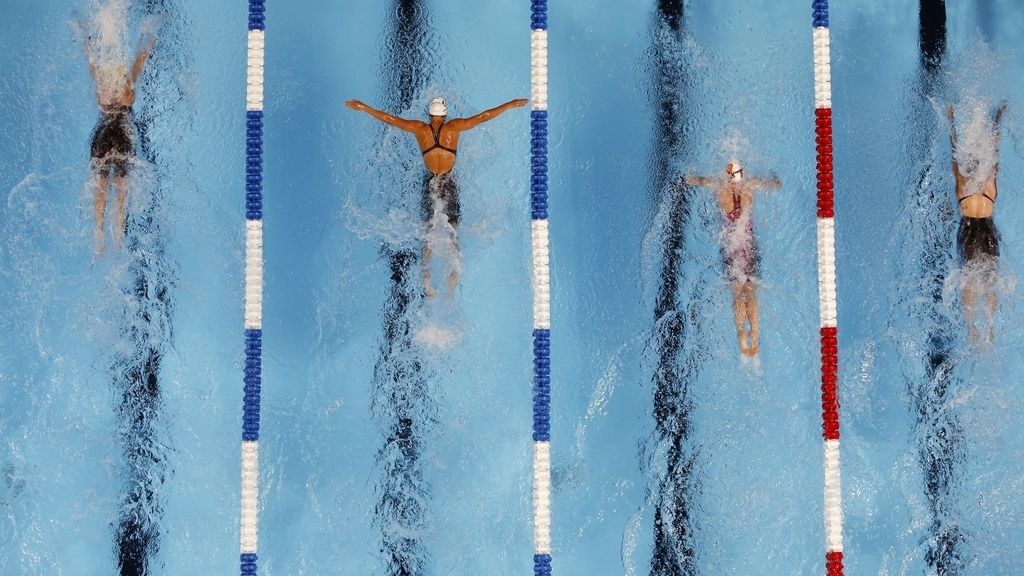 El equipo olímpico de natación estadounidense ensaya antes de Río (26/06/2016)