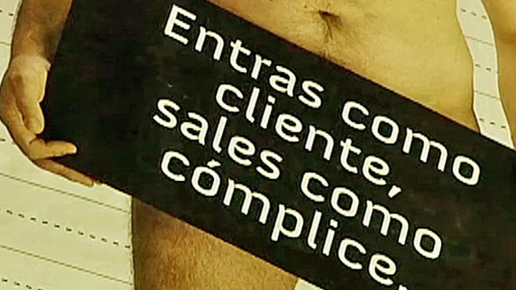 Un cartel para evitar la prostitución