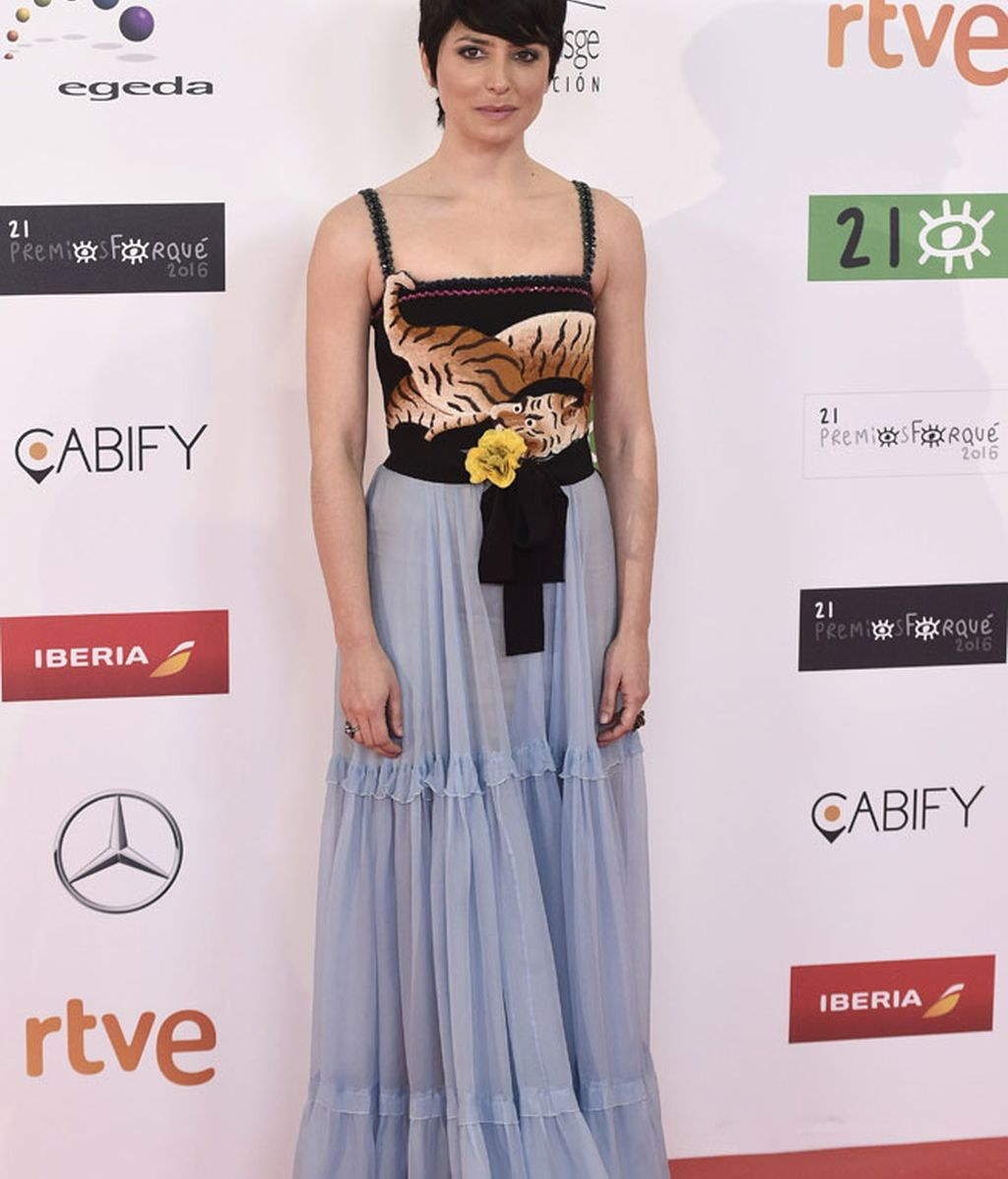 Bárbara Lennie con vestido de Gucci