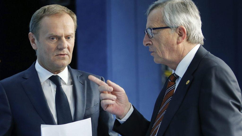 Jean- Paul Juncker y Donald Tusk
