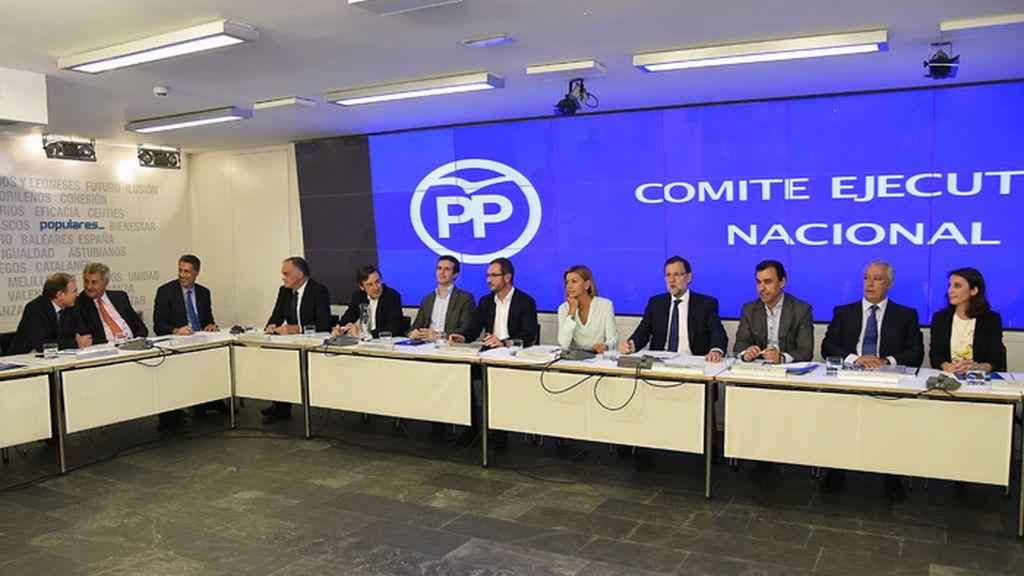 Reunión del Comité Ejecutivo Nacional del PP tras las elecciones catalanas