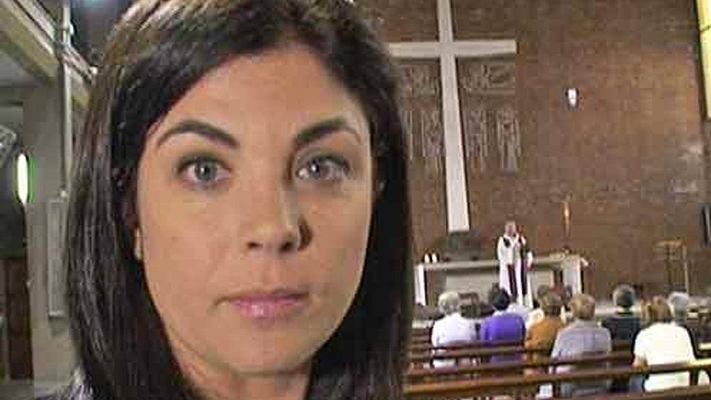 Samanta durante el reportaje