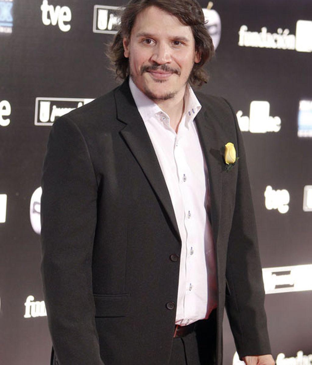 Sergio Peris también acudió a los premios