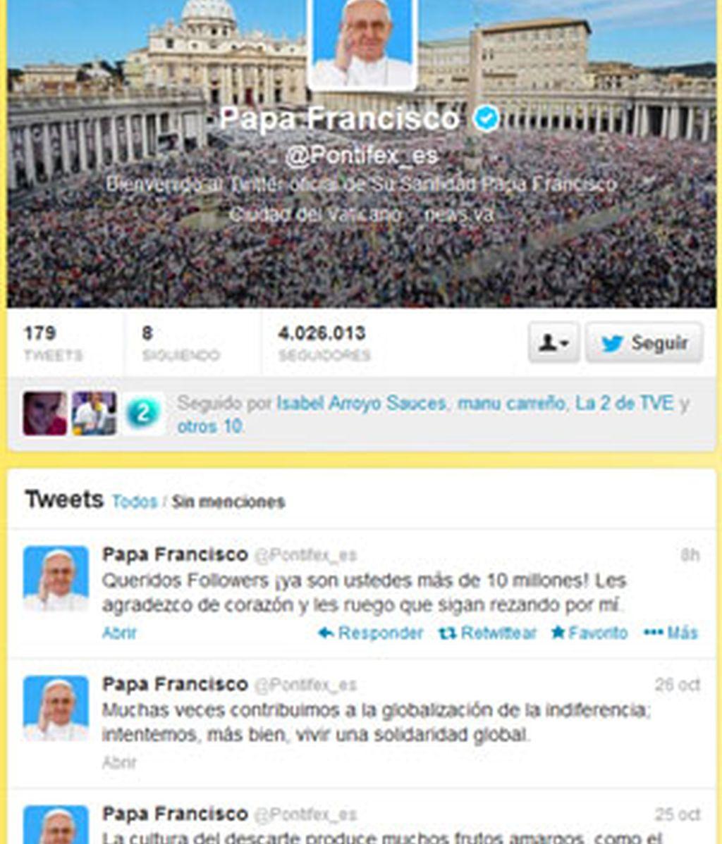 El Papa Francisco cuenta con más de 10 millones de seguidores en Twitter