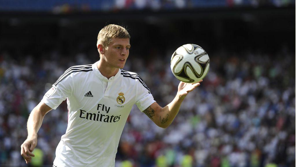 Toni Kroos hizo las delicias de los aficionados blancos que acudieron al Bernabéu
