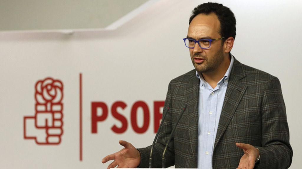 Antonio Hernando, portavoz del grupo parlamentario socialista en el Congreso de los Diputados