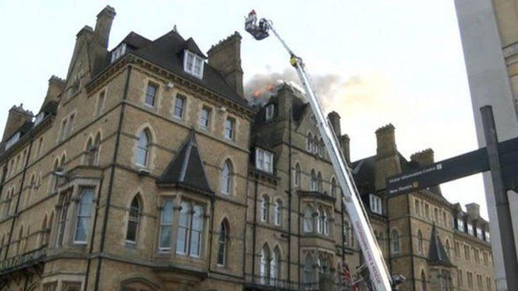 incendio Oxford,incendio hotel,hotel Randolph,carne flambeada