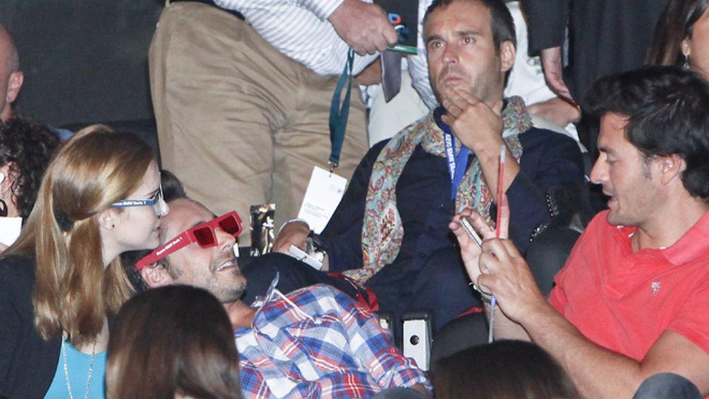 Avalancha de famosos en el concierto de Alejandro Sanz
