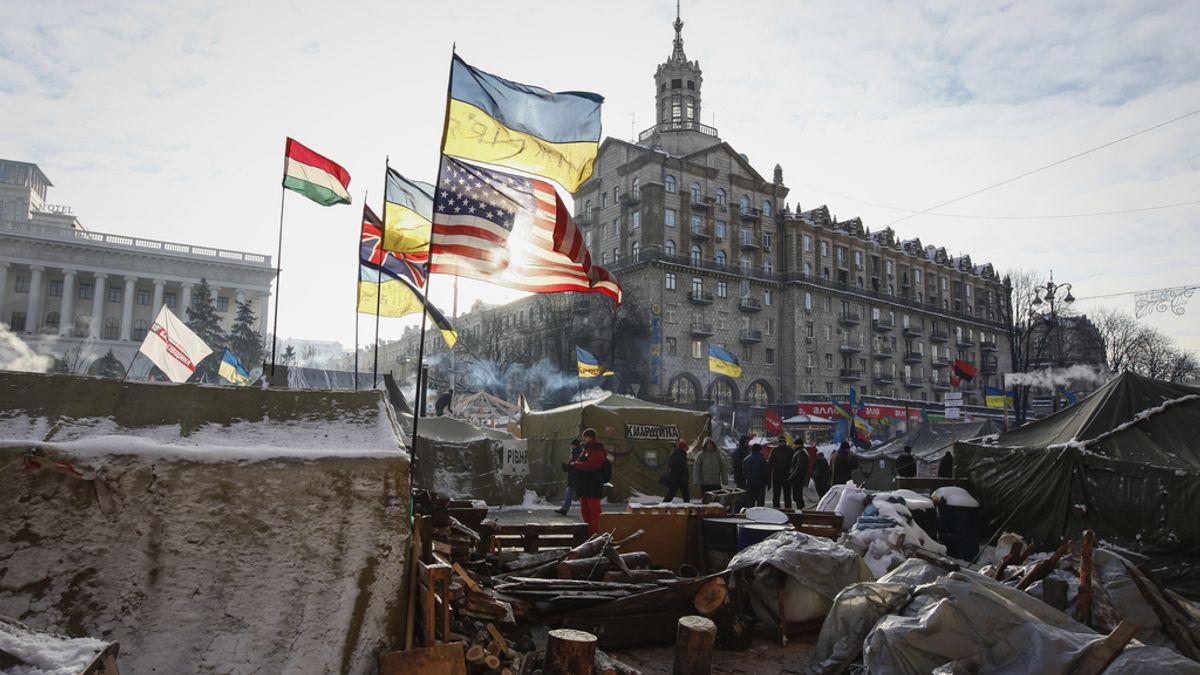 Plaza de la libertad en Kiev