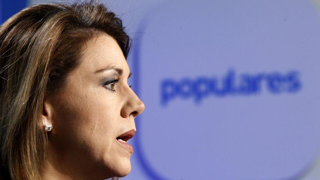 Cospedal niega las subidas de suelo de Rajoy y anuncia el despido de Sepúlveda
