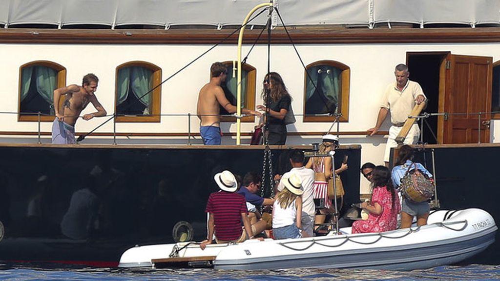 La familia Casiraghi ha disfrutado navegando en el yate familiar