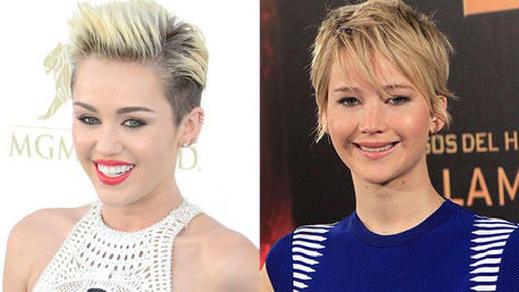 Jennifer Lawrence y Miley Cyrus