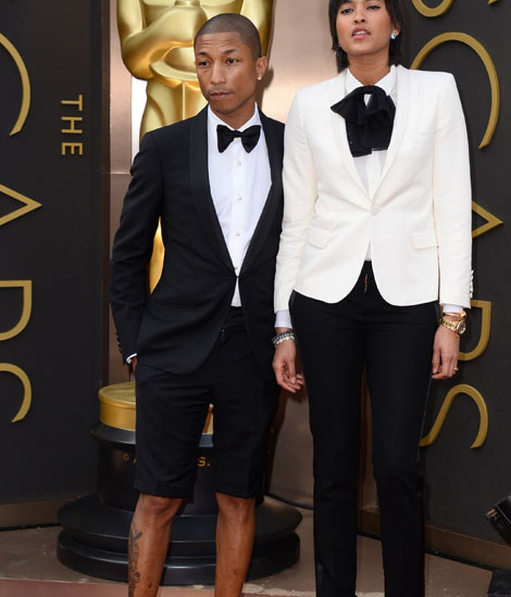 Pharrell Williams de Lanvin y su mujer Helen Lasichanh