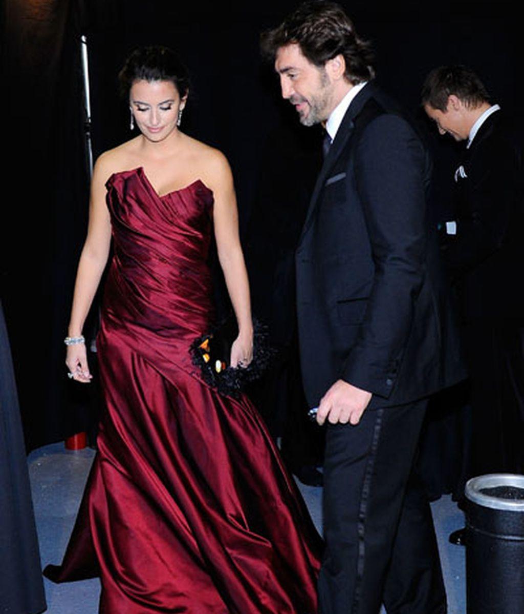 Penélope y Bardem han acudido juntos a la entrega de los Oscar. Foto: Getty