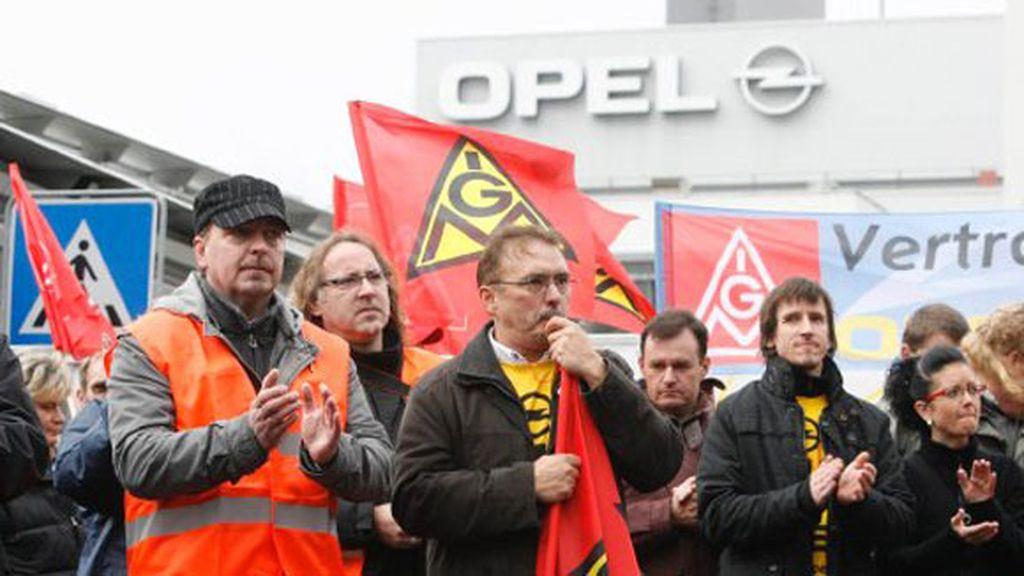 Protestas en la fábrica de Opel, en Alemania
