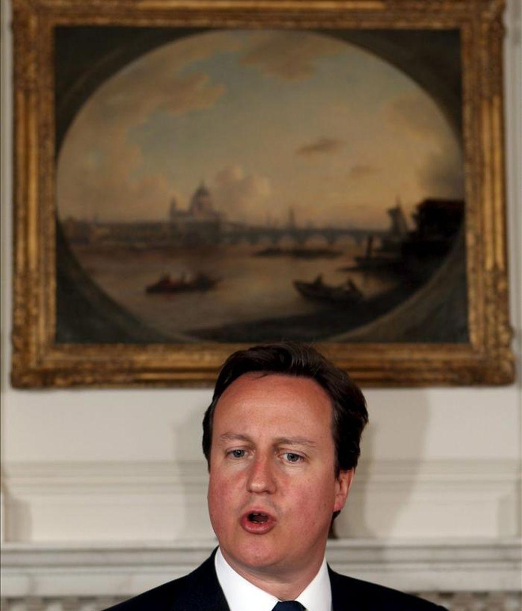 El primer ministro británico David Cameron. EFE/Archivo
