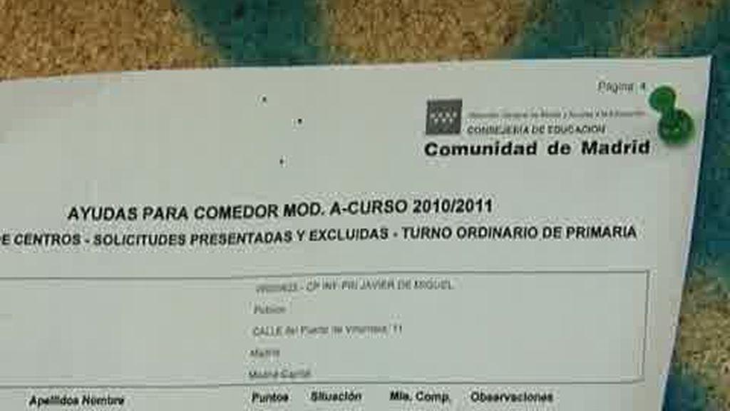 Madrid no publica aún las ayudas para comedores escolares