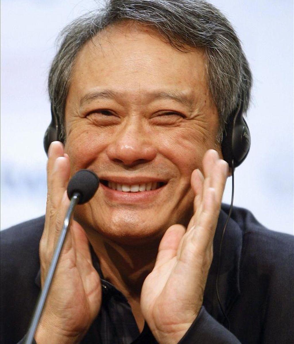 Ganador del Óscar, León de Oro, Oso de Oro y Globo de Oro, el cineasta taiwanés Ang Lee durante una rueda de pernsa. EFE/Archivo