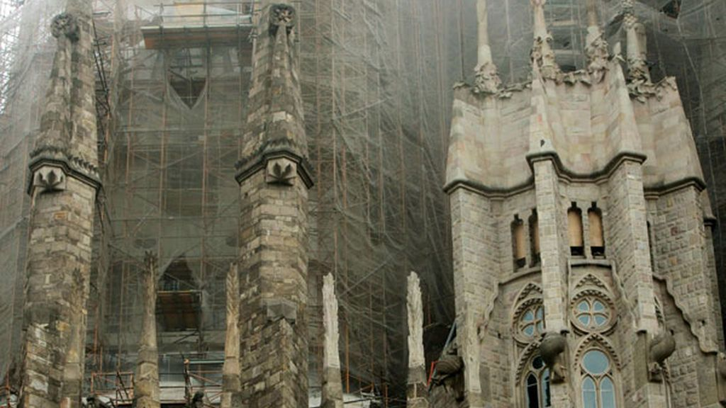 Incendio en la Sagrada Familia