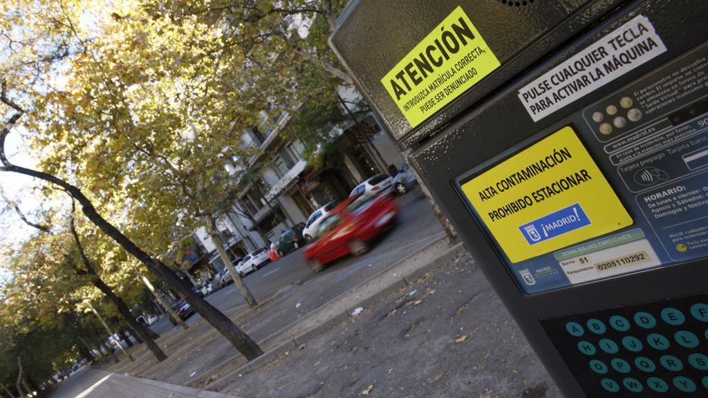 Prohibido aparcar en Madrid por la alta contaminación