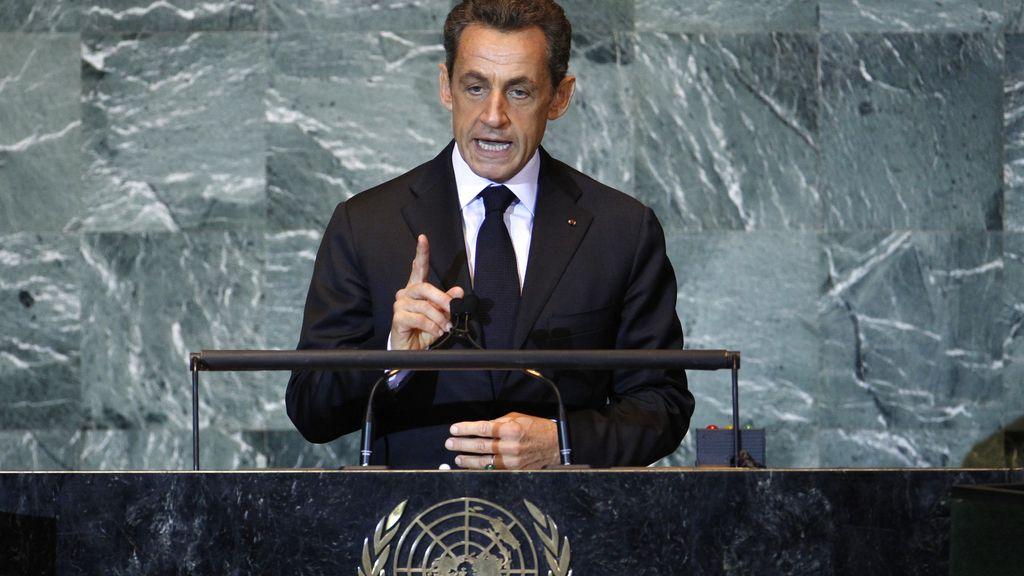 """Sarkozy propone a los palestinos que soliciten ser """"Estado observador"""" en la ONU"""