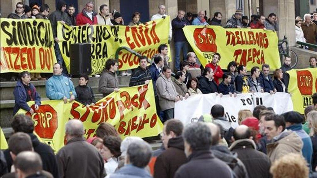Una manifestación en Pamplona contra el ERE de la factoría Koxka. EFE/Archivo