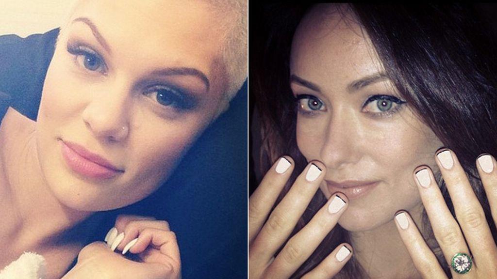 Uñas de famosas en Instagram