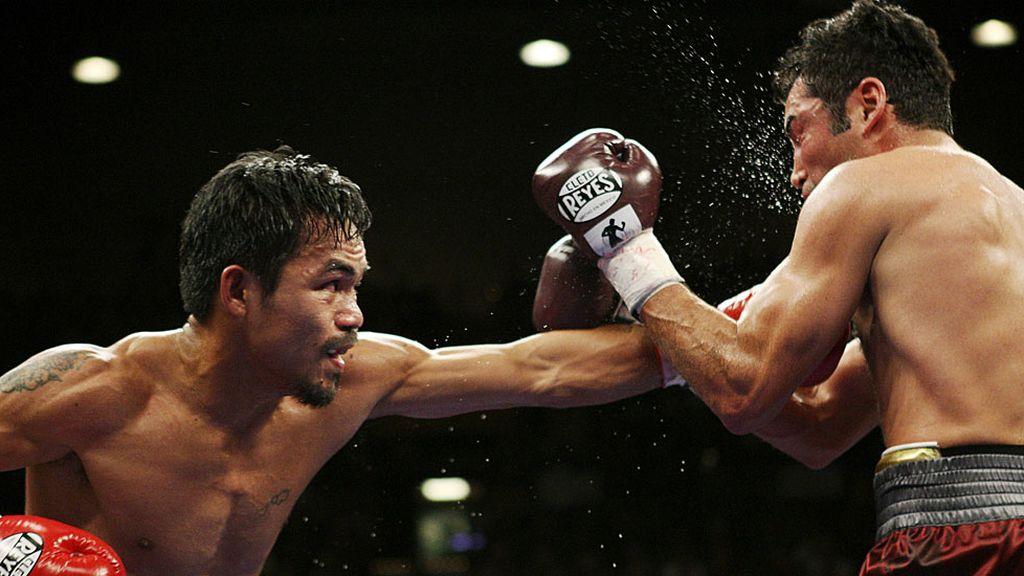 'Pac-Man' 'retiró' a Óscar de la Hoya en el denominado 'combate de ensueño'